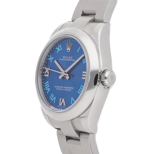 Replika Ladies Rolex Oyster Perpetual 177200 Dial Blue Mechanical Automatic