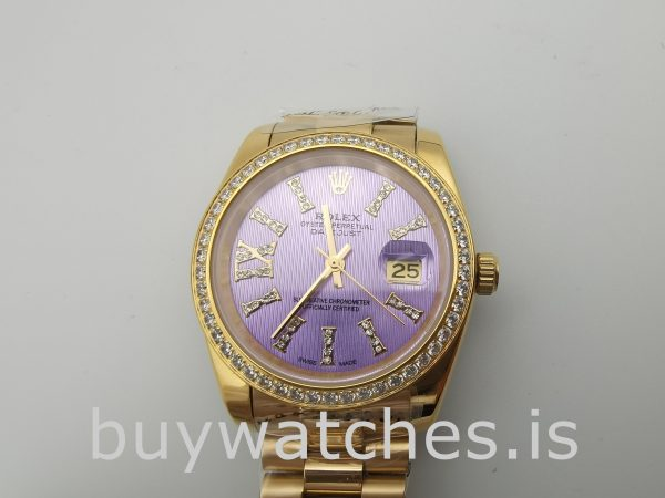 Rolex Datejust 278384 Zegarek damski 31 mm Automatic Purple With Diamonds